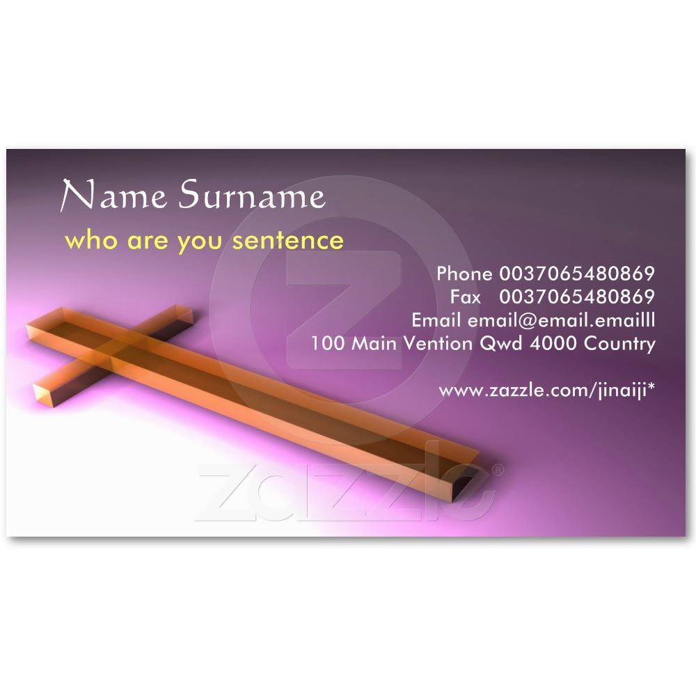 Christian business card | Business cards and Business