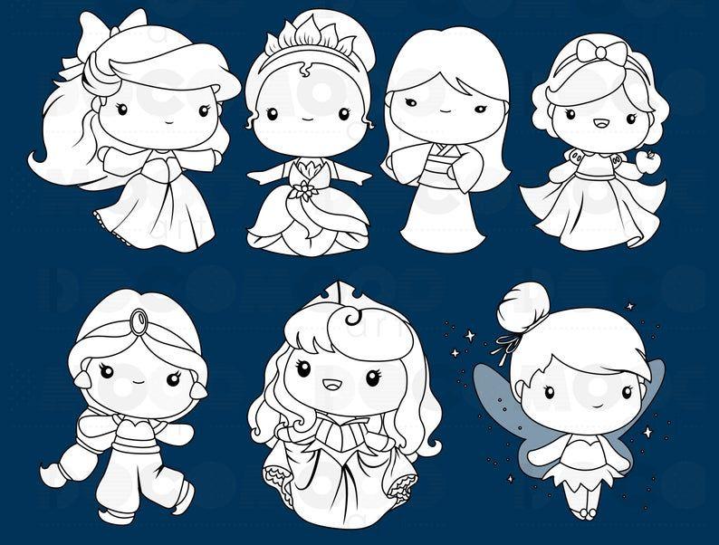 Princess Clipart Fantasy Clip Art Black And White Free Etsy Clip Art Disney Drawing Tutorial Clip Art Vintage