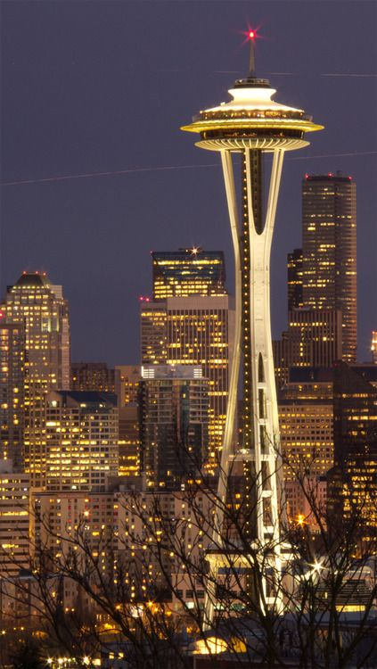 Space Needle Seattle Washington Wallpapers Bonitos Viagens Papel De Parede Para Telefone