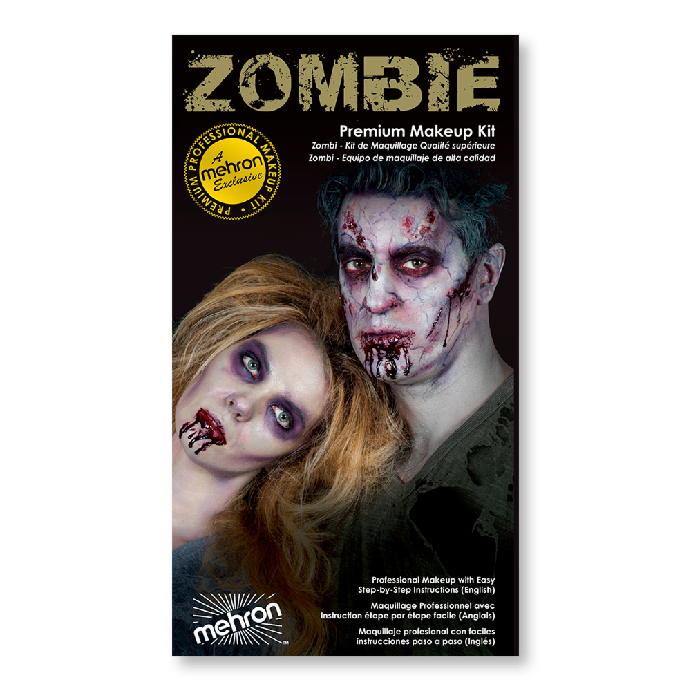 Zombie Premium Character Makeup Kit mehron (With