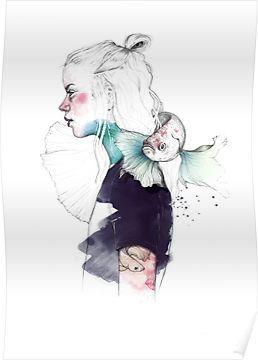 Betta Poster By Elena Garnu Aquarelle En 2019 Peinture