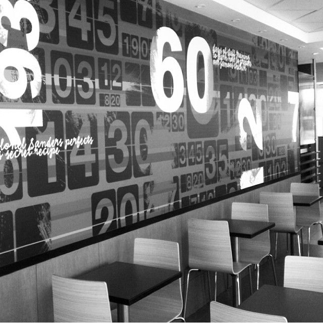 Wall Graphic In Kfc Brits With Images Wall Graphics Mirror