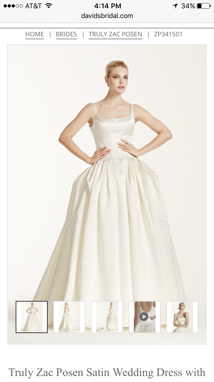 My gown zac posen this duchesse satin ball gown is a lifelong