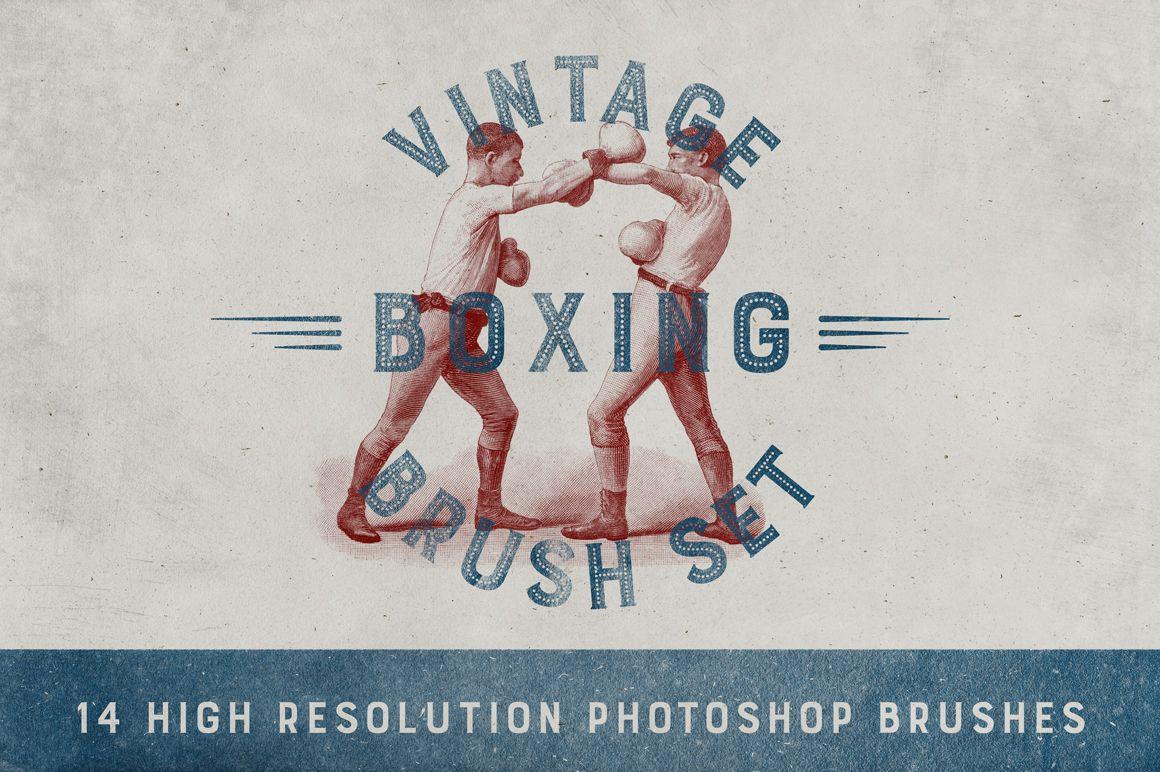 Vintage Boxing Brush Set by Marin Shadok on Creative Market