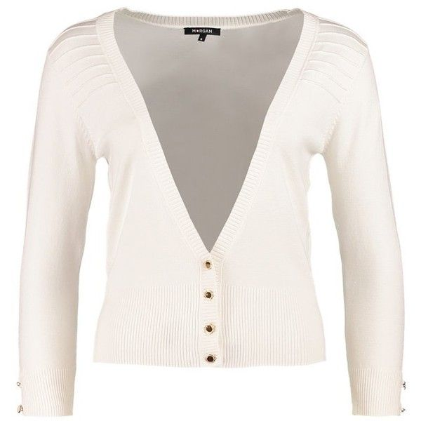 Morgan Cardigan ecru ($30) ❤ liked on Polyvore featuring tops ...
