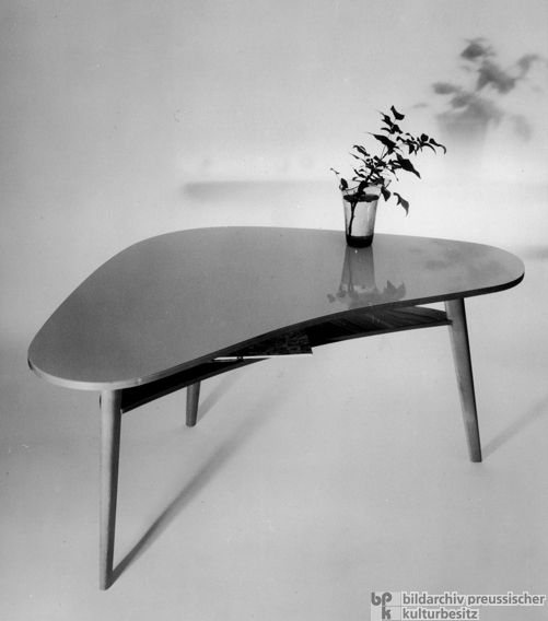 1000 Images About Kidney Shape Tables On Pinterest: Furniture Design Of The 1950s: Kidney-Shaped Table (1954