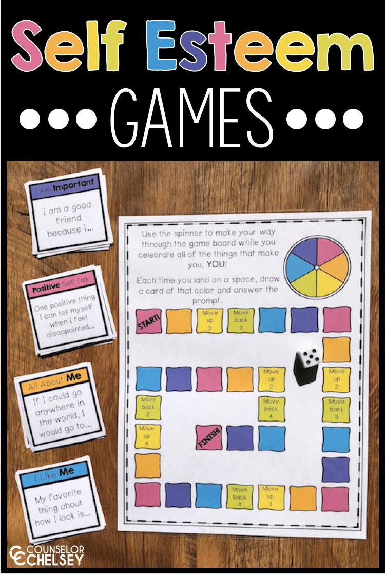Self Esteem Games   Self esteem activities, Coping skills ...