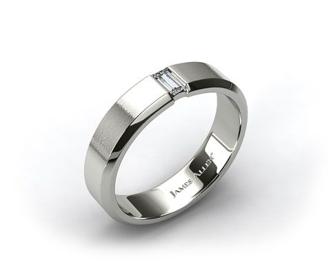 i want this ring Platinum 7mm Baguette Diamond Mens Wedding Band