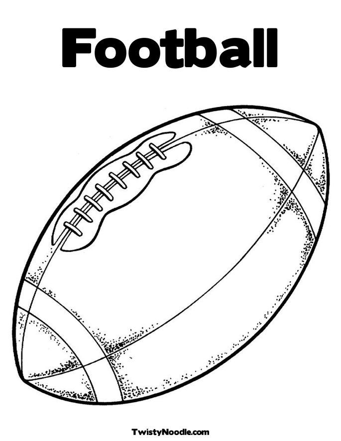 football coloring pages for kids | Football Coloring Page - Twisty ...