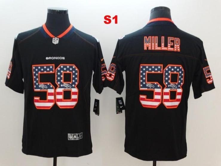 watch 58a3e c2544 Men 58 Von Miller Jersey Football Denver Broncos Jersey ...