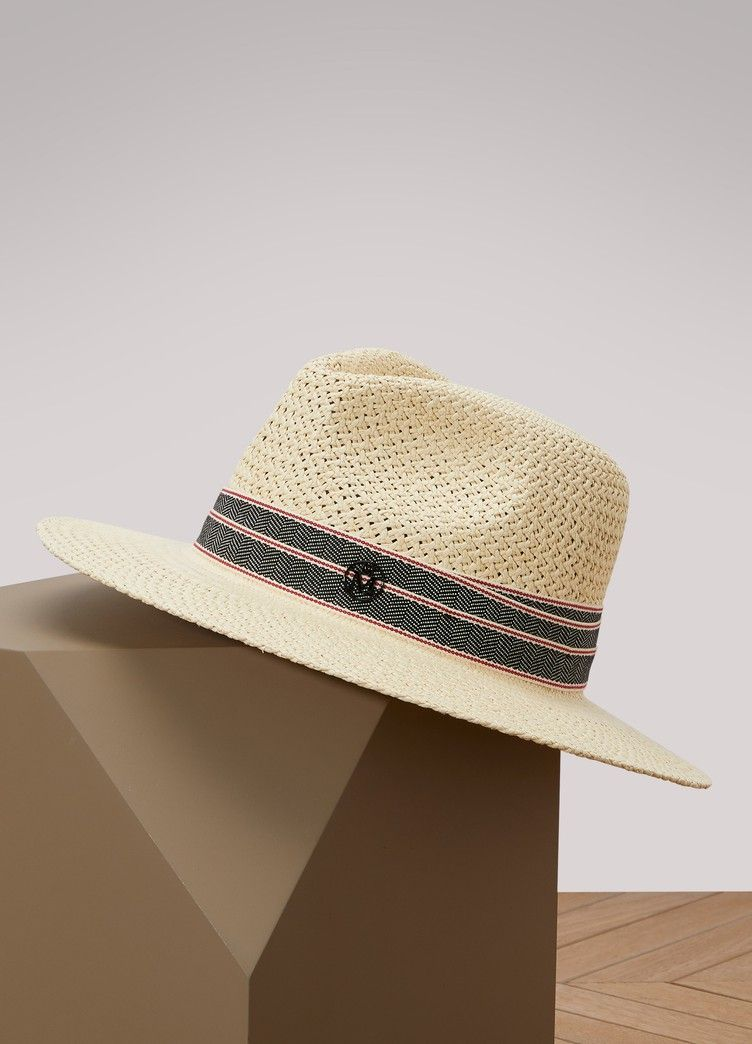 0ac49168fbf5bd MAISON MICHEL | Rico fedora hat The iconic Rico fedora hat by Maison Michel  brings you a taste of summer. With its Riviera-chic sophistication, ...