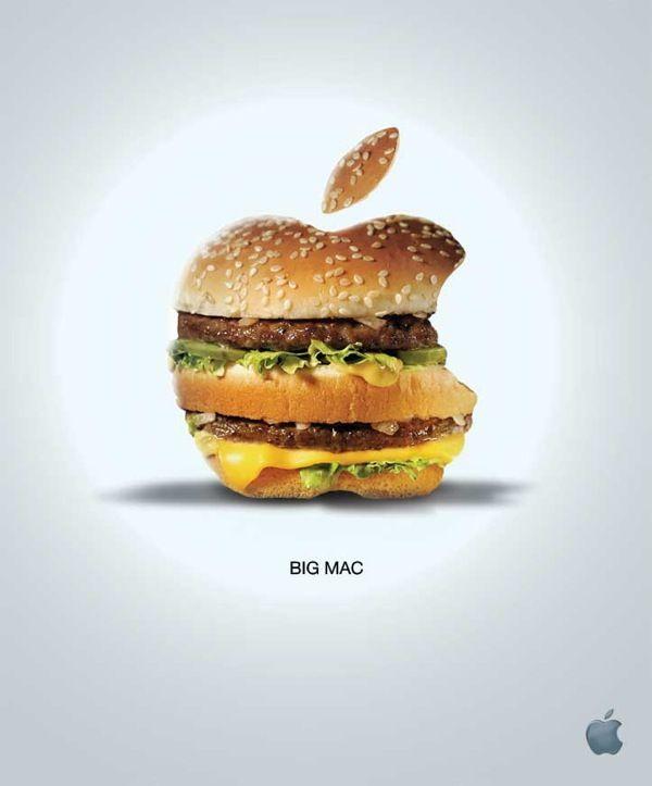 Mcdonalds Big Mac Apple Parody Ad Adpressive This