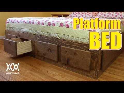 This Platform Bed Is Loaded With Storage Easy To Make Free How To