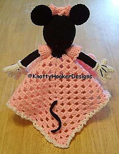 Ravelry: Mickey & Minnie Lovey Blankies pattern by Knotty Hooker ...