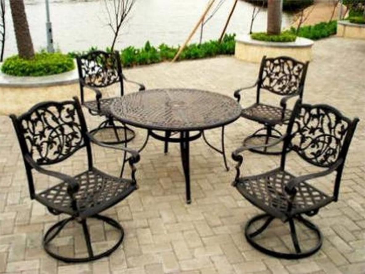 36 comfortable wrought iron patio furniture