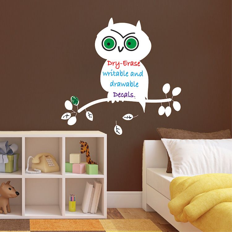 Dry Erase Owl Wall Decal Dry Erase Wall Decal Murals Owl Wall Decals Dry Erase Wall Owl Wall