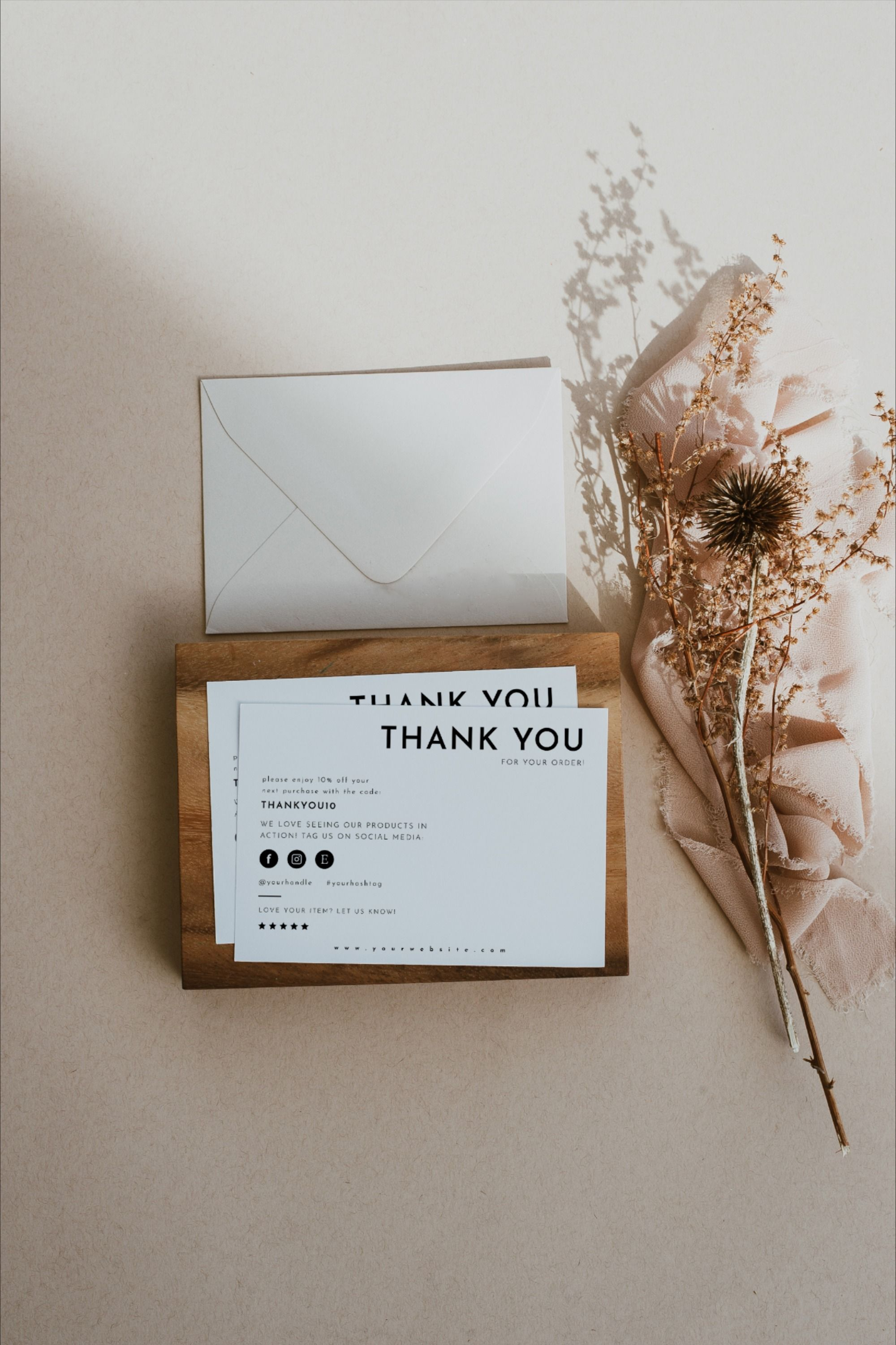 Amelie | Small Business Thank You Template, Editable Small ...