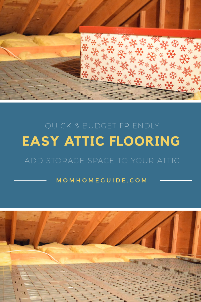 Easy Diy Attic Flooring With Attic Dek Momhomeguide Com In 2020 Attic Flooring Attic Storage Flooring