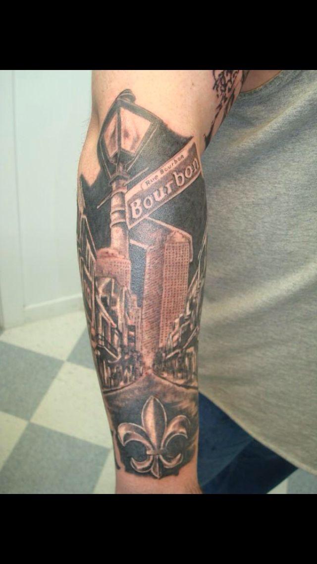 Coolest Nola Tattoo Probably Ever Louisiana Tattoo Sleeve