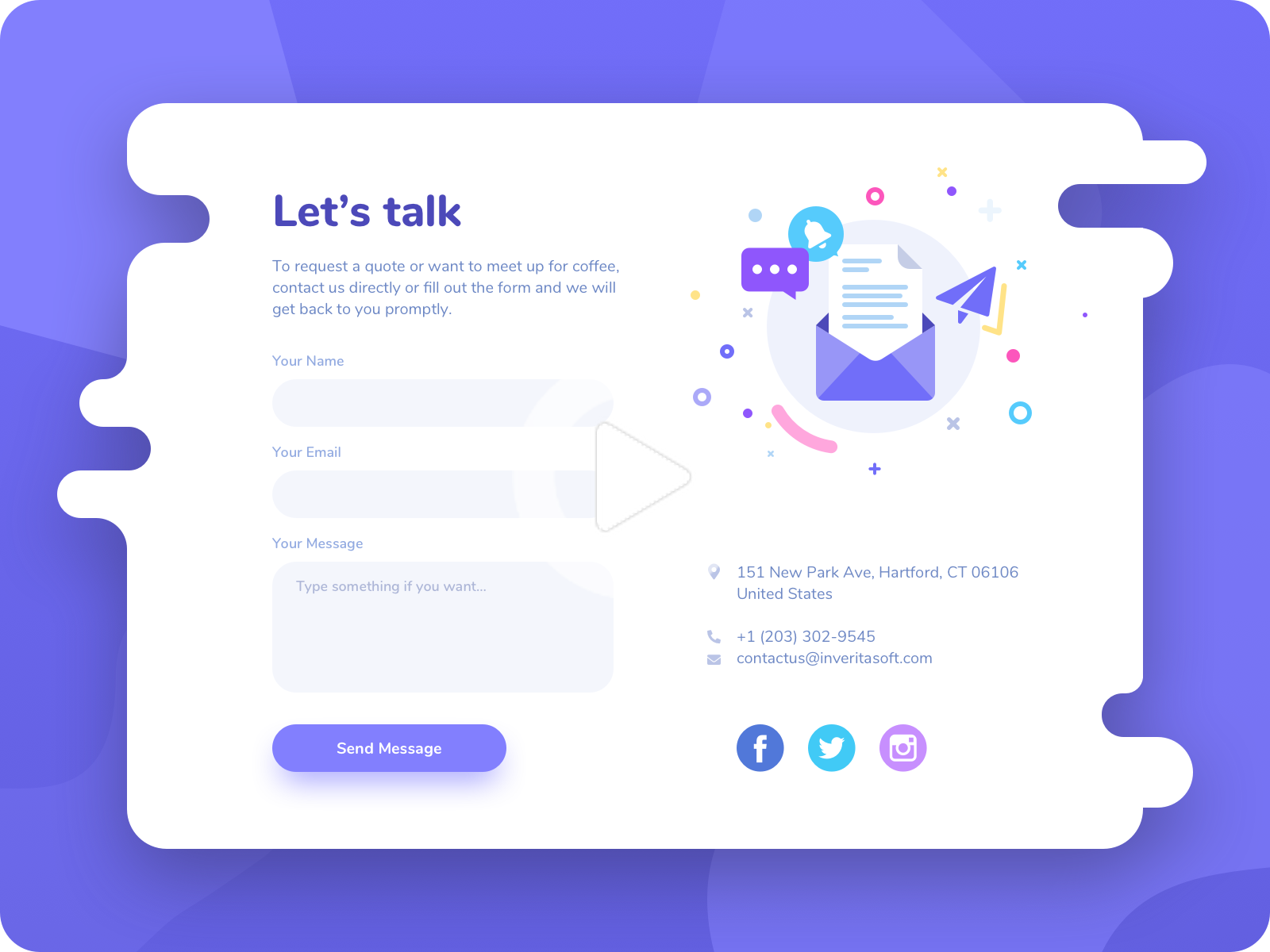 Contact Us Dailyui Day 028 In 2020 Contact Us Day Website Design Layout