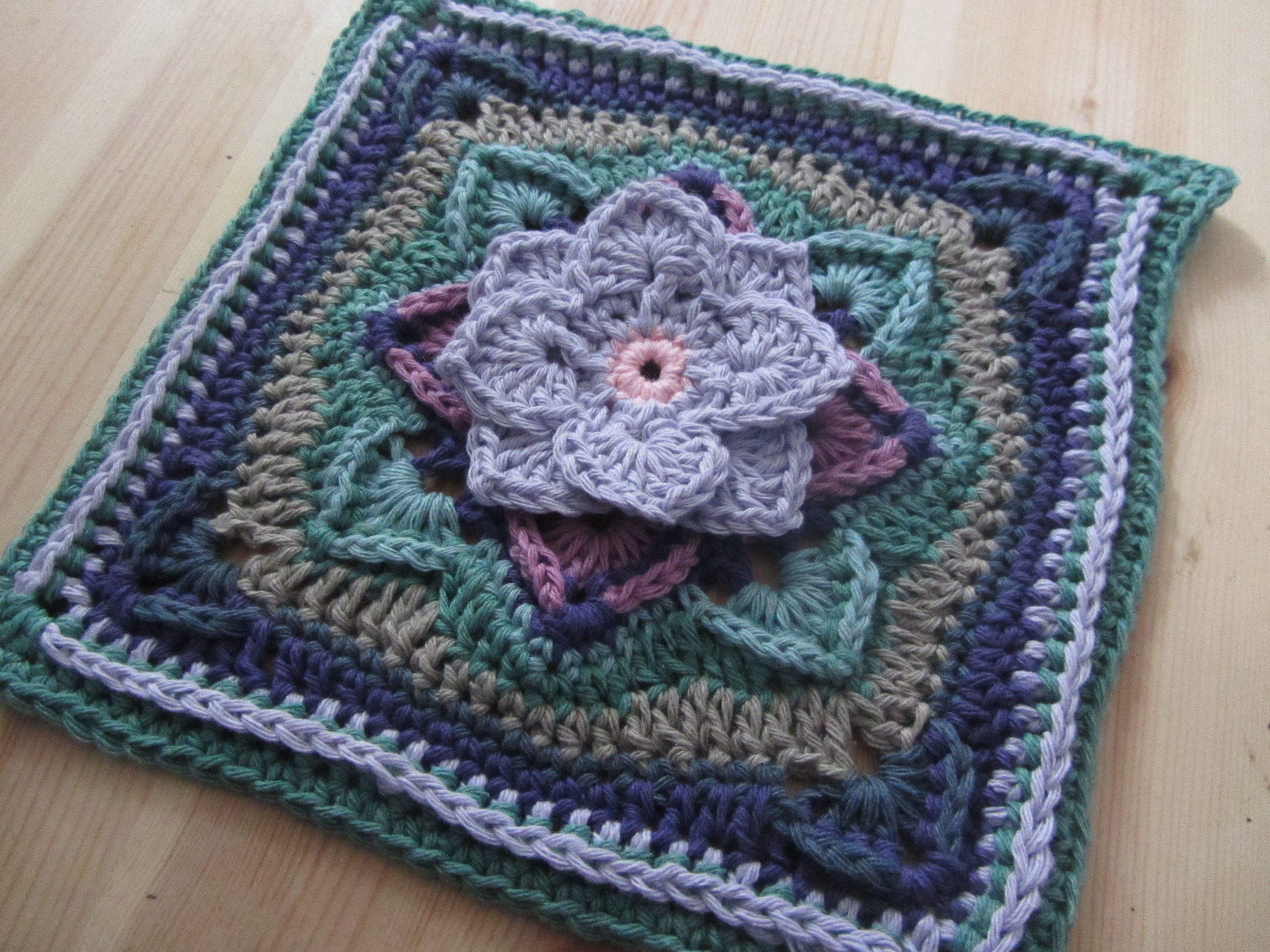 Demelza Blanket 3d Flower Square Crochet Blanket Patterns Crochet Squares Afghan Crochet