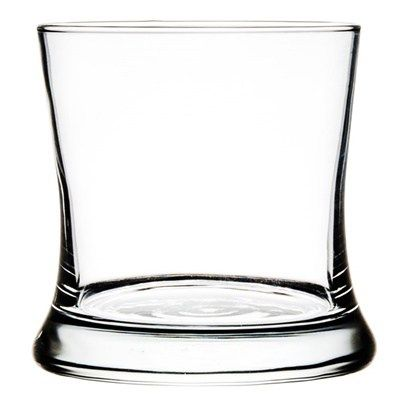 the samba ounce rocks glasses are in an hour glass shape which makes it