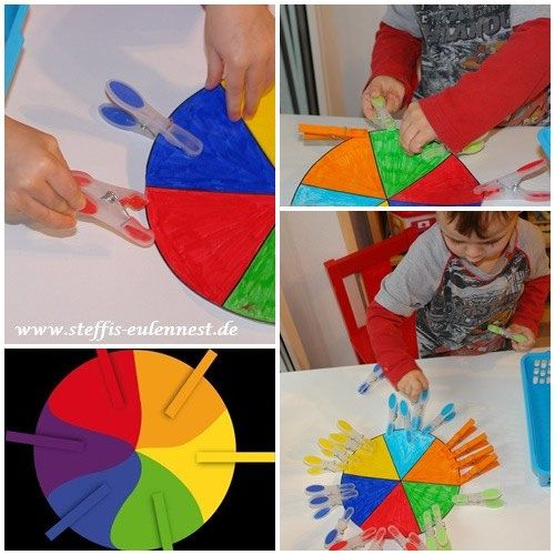 Spiele f r kinder farbenspiel krippe kita u3 motorik for Raumgestaltung u3