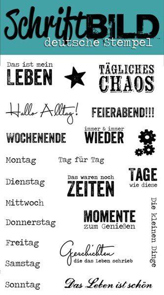 Viele von euch kennen ja schon die tolle deutsche Stempelserie von