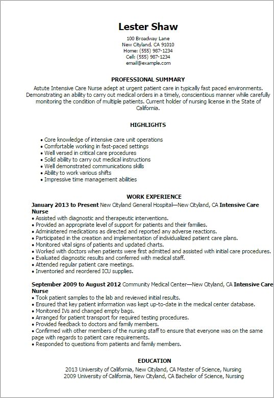 icu nurse resume examples agar freedns with practitioner cover - icu nurse resume