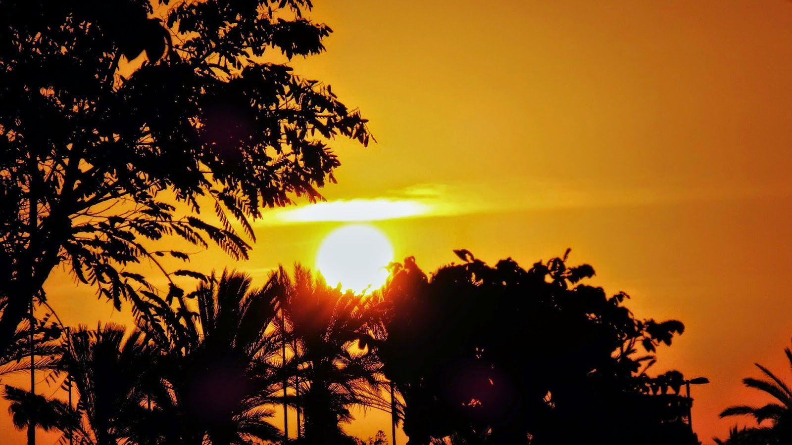 Canary Islands : Amanecer víspera de Reyes Magos ..El Sol se suma a...