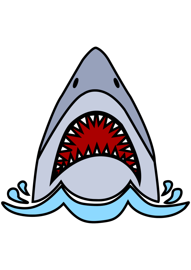 Shark Head With Open Mouth Free Svg File Svg Free Files Free Svg Shark Head