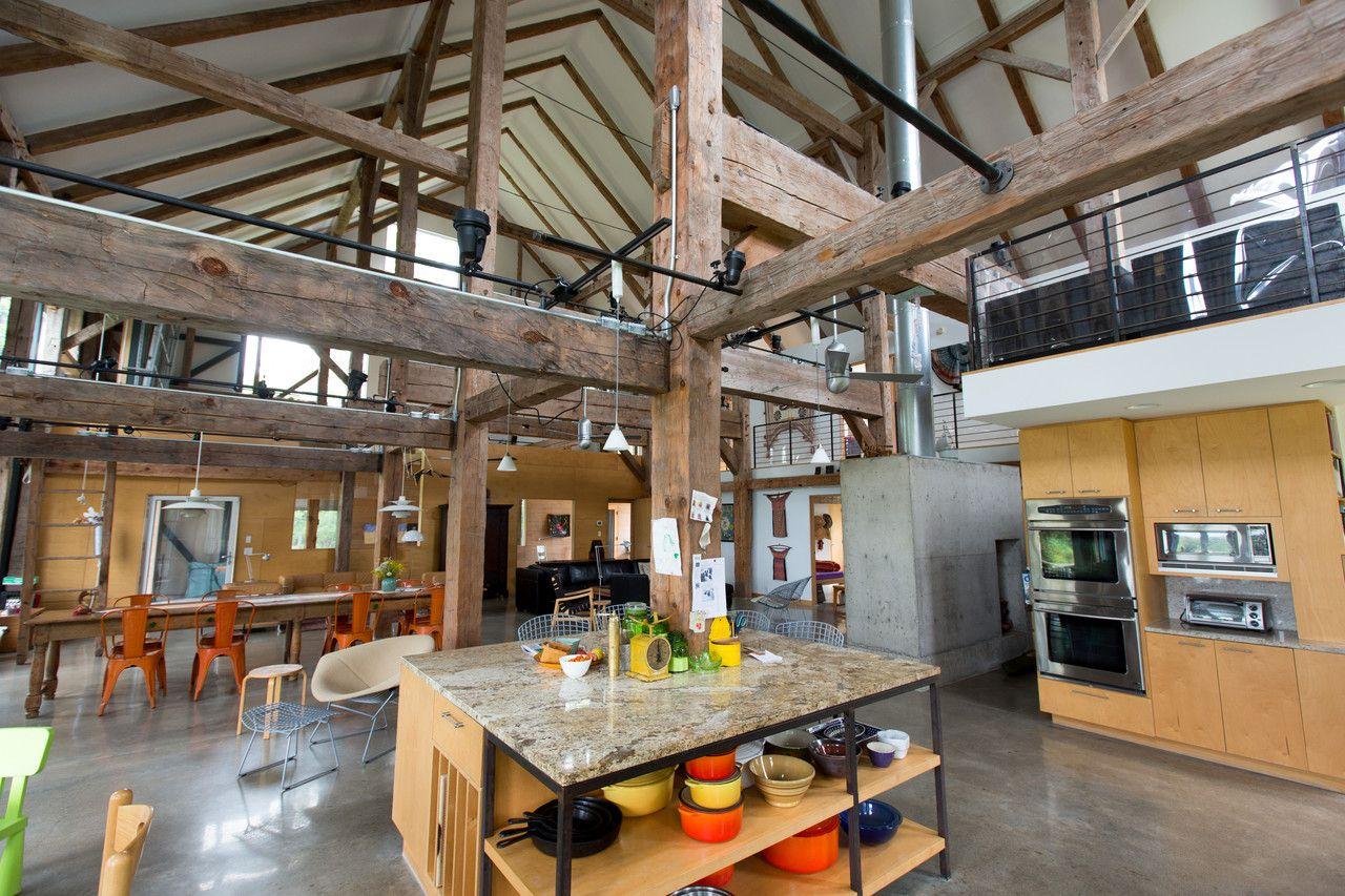 Barn Conversions—WSJ Mansion   Beams, Barn and Interiors
