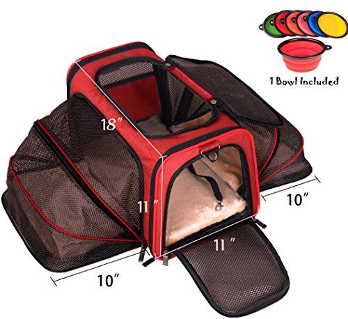Premium Airline Approved Expandable Pet Carrier By Pet Peppy Two Side Expansion Designed For Cats Dogs Kitt Kittens And Puppies Dog Car Travel Pet Carriers