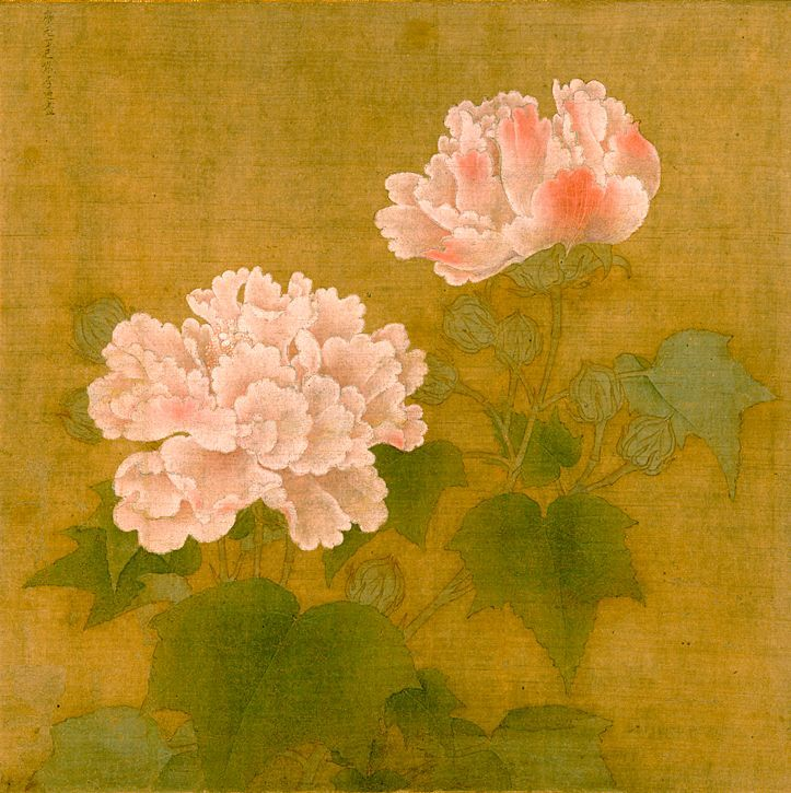 紅白芙蓉図 李迪 日本国宝 painting chinese painting oriental art