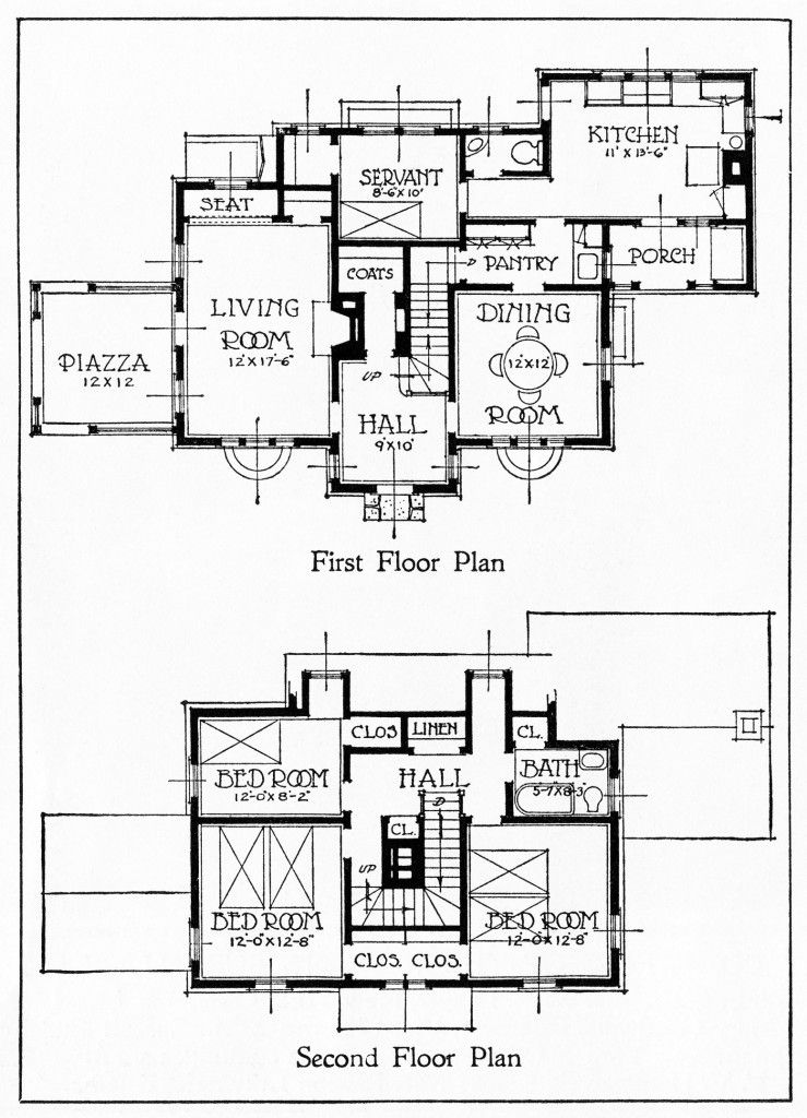 vintage house plans, old fashioned home, antique house
