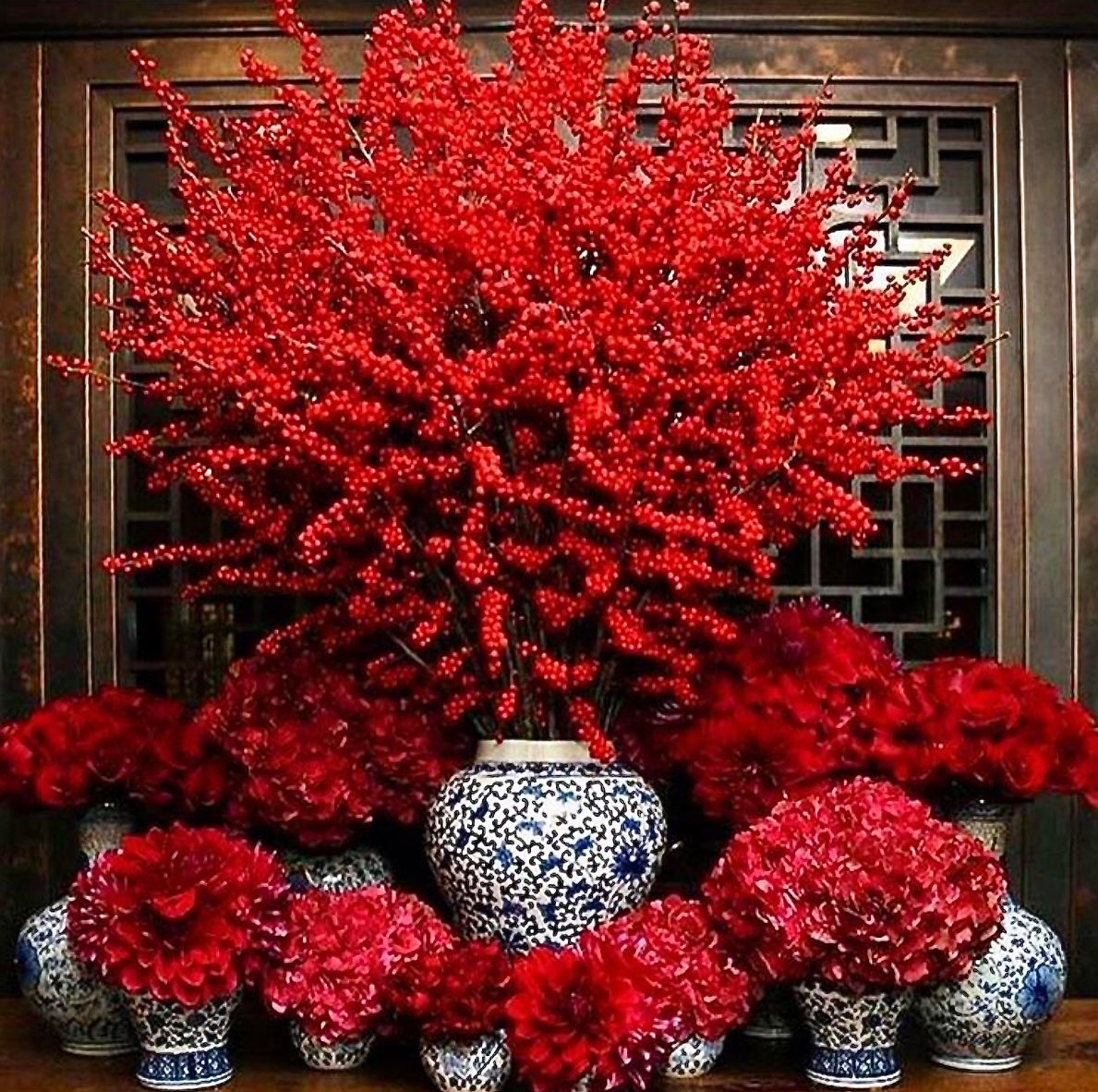 profusion of red