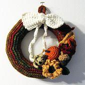 Ravelry: Autumn Wreath pattern by Thomasina Cummings Designs