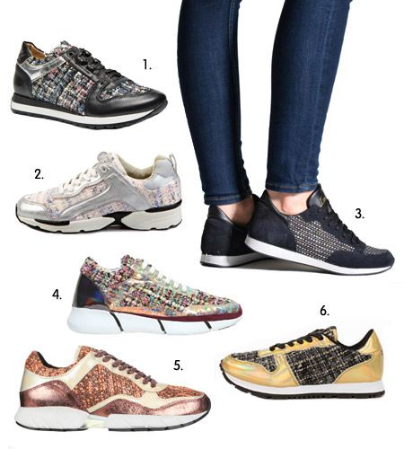 tendance automne hiver 2015 2016 sneakers en tweed baskets running mode pinterest tendance. Black Bedroom Furniture Sets. Home Design Ideas