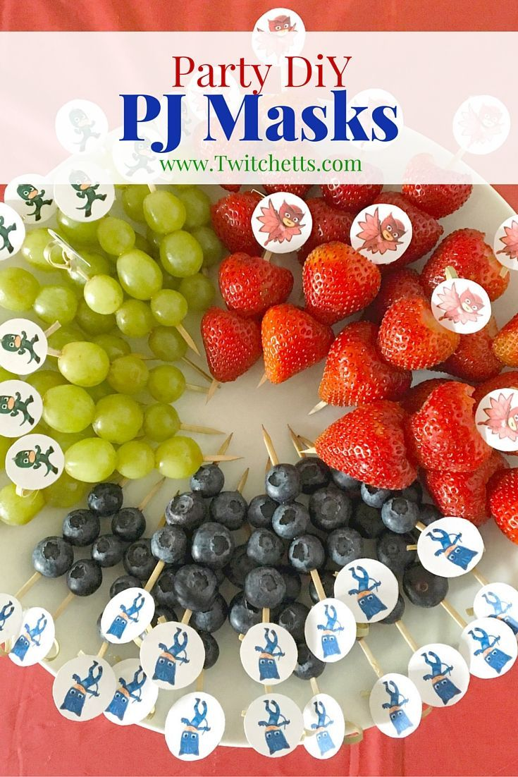 How to make easy pj masks party printables mask party