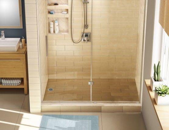 Redi Base Shower Pan, 48 X Center Drain, Single Curb
