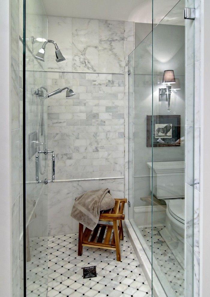 Cracked Glass Tile Bathroom Modern With Door Mounted Roman Tub Faucets2 Bathroom Interior Grey Bathrooms Bathroom Interior Design
