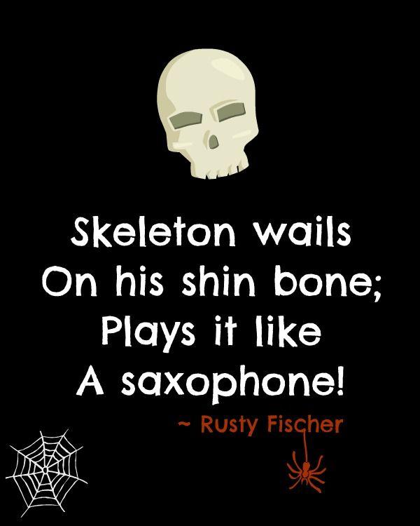 Sax-o-bone... A Halloween poem