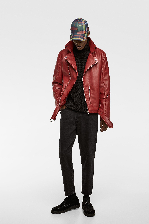Faux leather biker jacket Faux leather biker jacket