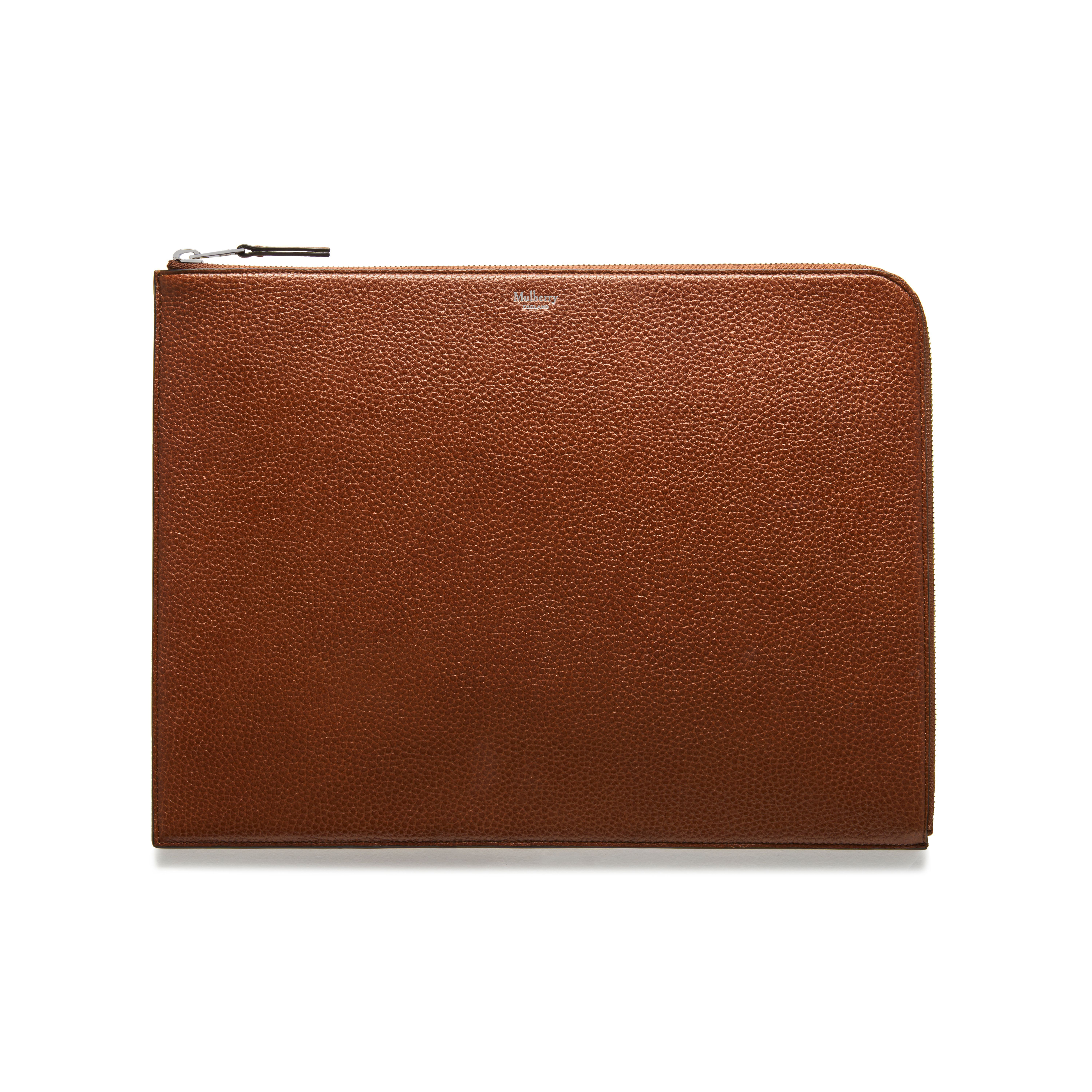 4ca7b5c1fb82 Shop the Large Tech Pouch in Oak Natural Grain Leather at Mulberry.com. Stay