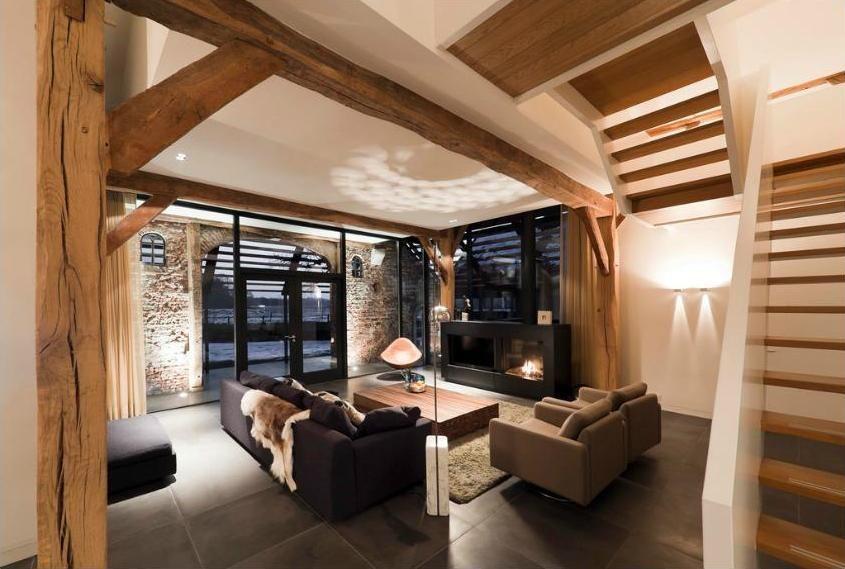 Une ferme rénovée dans un style contemporain - PLANETE DECO a homes world | Interieur maison ...
