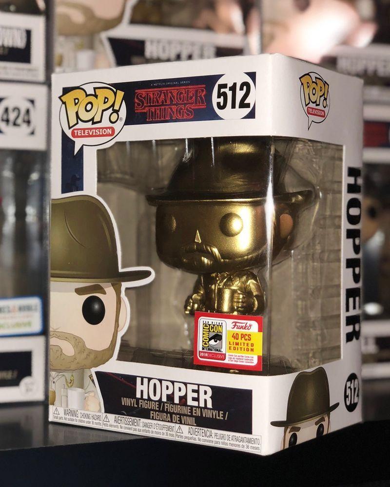 Hopper Pop Funko Pop Stranger Things Vinyl Figure #512 **CHASE VERSION**