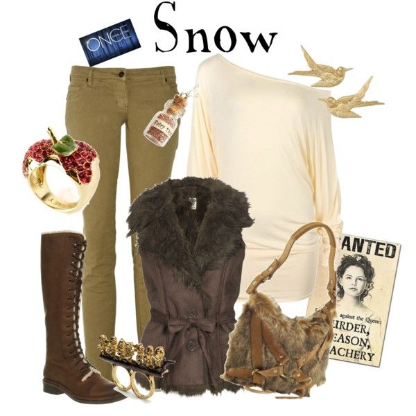 ✨  Snow - Once Upon A Time, created by marybethschultz on Polyvore