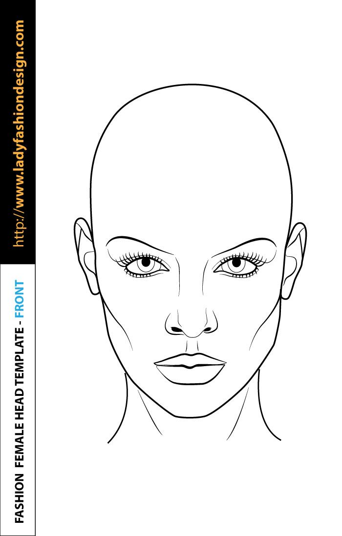 Free Download Fashion Illustration Face Fashion Figure Drawing Fashion Design Template