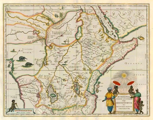 ANTIQUE MAP OF EAST AND CENTRAL AFRICA BY BLAEU J vintage east