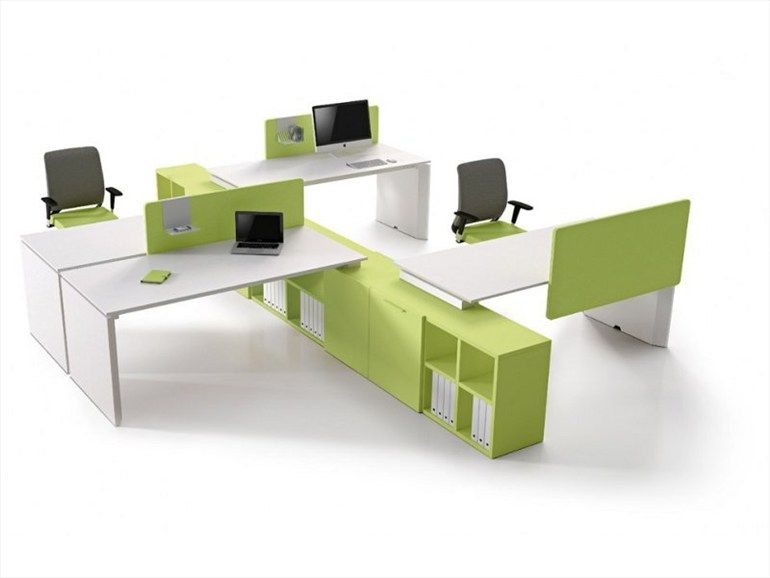 multiple workstation furniture working pratico office collection by zalf design edoardo gherardi roberto gobbo